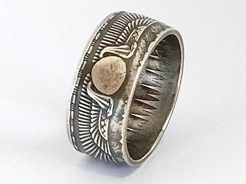 Münzring Ägypten 25 Piaster 1957 Silber 720er Größe 58 bis 72