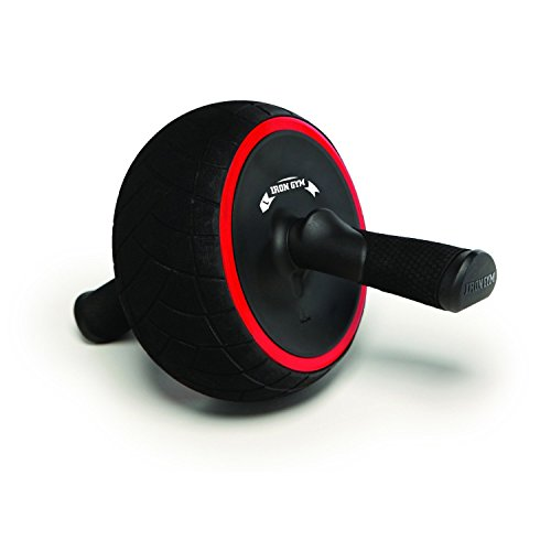 Iron Gym Speed Bauchmuskelroller, Schwarz/Rot, 9,4 x 3,6 x 7,9