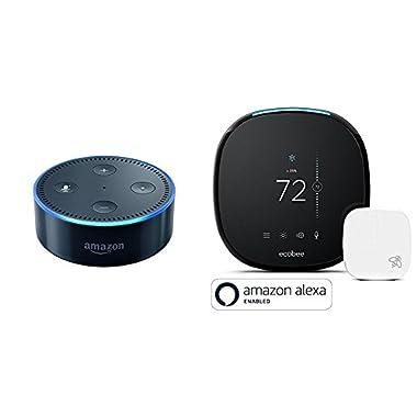 Echo Dot - Black + ecobee4 Smart Thermostat