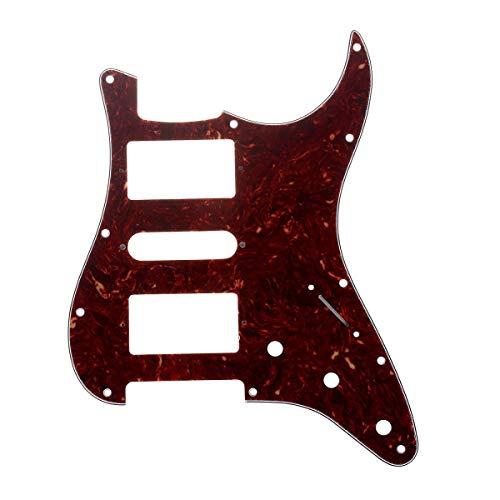 Musiclily Pro 11 Furos Escudo HSH Pickguard Strato para Guitarra Fender EUA / Mexicana Made Stratocaster Standard Estilo Moderno, 4 Camadas Vintage Tortoise