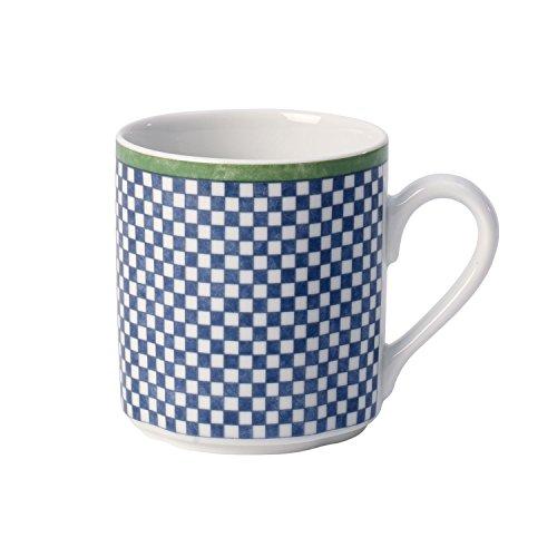 Villeroy & Boch Switch 3 Castell Kaffeebecher, 300 ml, Höhe: 9 cm, Porzellan, Weiß/Blau/Grün