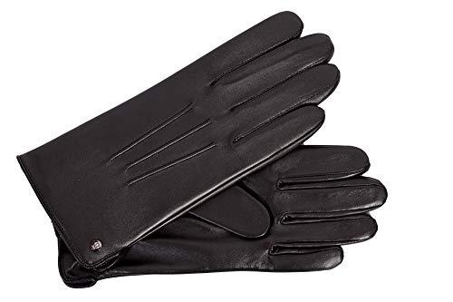 Roeckl Eleganter Herrenhandschuh Echtleder warm gefüttert in schwarz, 9, Schwarz
