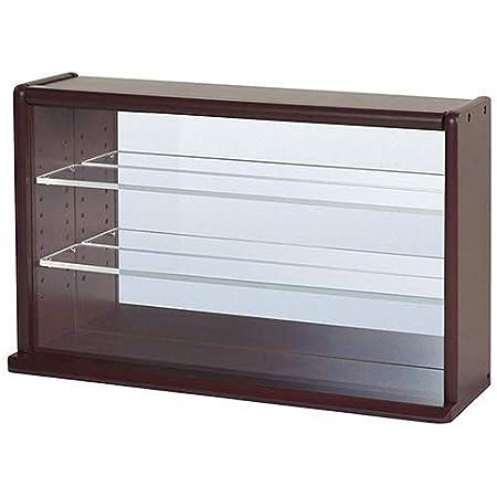 ナカバヤシ コレクションケース ミニワイド 透明アクリル棚板タイプ (ダークブラウン)