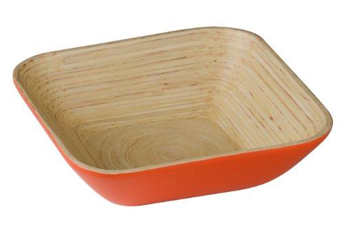 Premier Housewares keukengerei en gadgets schalen en spinner, bamboe, oranje, 25x25x7