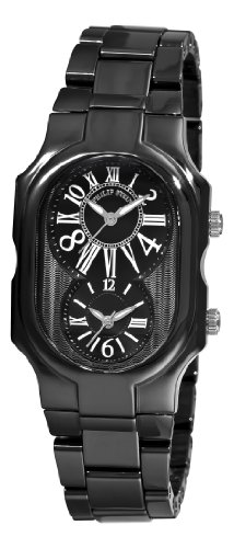 Philip Stein Women's 2CB-MB-CB Signature Black Calfskin Ceramic Metal Watch