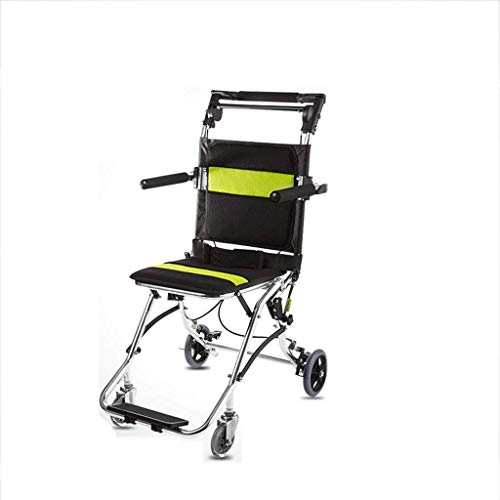 ShiSyan Riabilitazione Sedia, Sedia a rotelle, Leggero Transit Sedia a rotelle Pieghevole Portatili Sedia Viaggi Piega Verso Il Basso Maniglie Netto puntura Portare la Prova sedie a rotelle