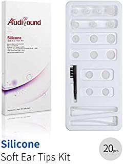 Hearing Aids Accessories 20pcs, 9pcs Hearing Aid Domes, 2pcs Sound Tubes & 1pc Cleaning Brush Tool, Universal Replacement
