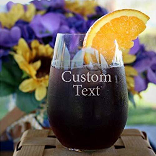 Crea tus propias copas de vino personalizadas, copas de vino personalizadas para...