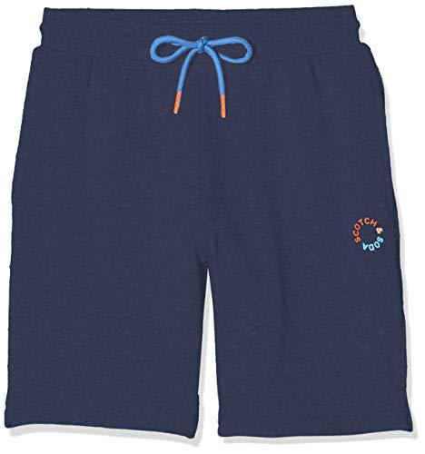 Scotch & Soda Shrunk Jungen Logo-Sweatshorts Hose, Blau (Night 0002), 164 (Herstellergröße: 14)
