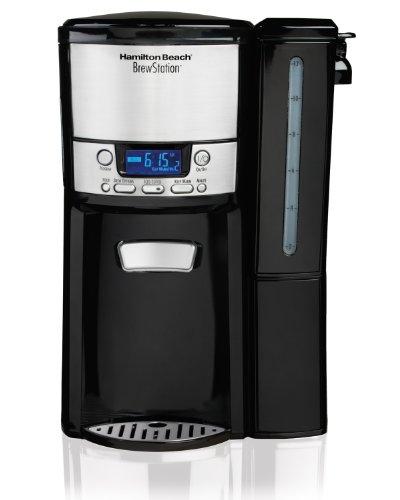 Hamilton Beach 12-Cup Coffee Maker, Programmable BrewStation Dispensing Coffee Machine (47900),Black - Removable Reservoir