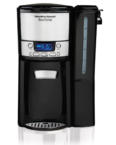 Hamilton Beach 12-Cup Coffee Maker, Programmable BrewStation Dispensing Coffee Machine (47900),Black - Removable Reservoir