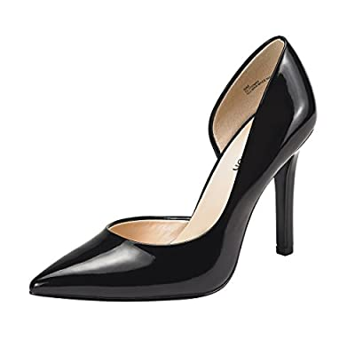 JENN ARDOR Stiletto High Heel Shoes for Women: Pointed, Closed Toe Classic Slip On Dress Pumps