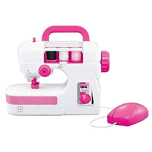 Máquina De Costura Infantil My Style Atelie com Linha Tecido Fita Métrica Multikids