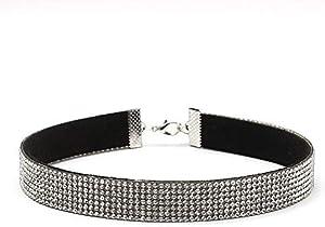 leenBonnie Yr294 Velluto Coreano Full Diamond Collar Silver Decoration Gift Preresent