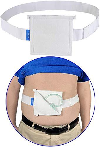 G Tube Holder Feeding Tube Supplies Peg Tube Peritoneal Dialysis Belt Catheter Cover Drainage Belt Pad Abdominal Dialysis Protector Fixation Device Medical Nursing for Men Women