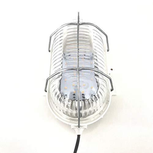 Saunaleuchte LED ohne Blendschirm, bis +125°C, Wasserfest IPx4, mit Netzteil und 4m Silikonkabel,...