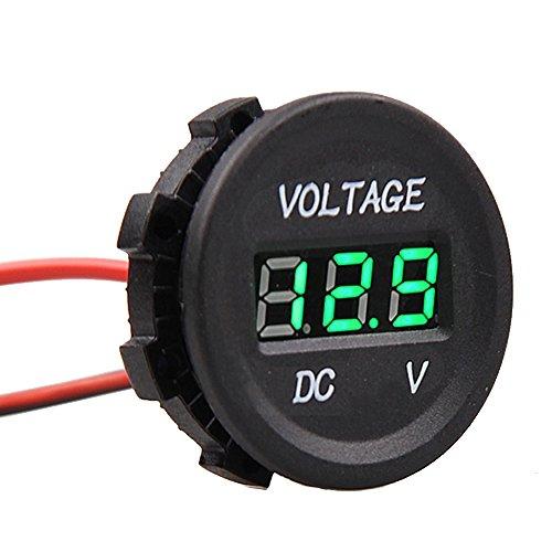 E Support™ KFZ 12V 24V Wasserdicht Digital Voltmeter Messbereich Grün LED Spannungsanzeige Für Auto Motorrad LKW