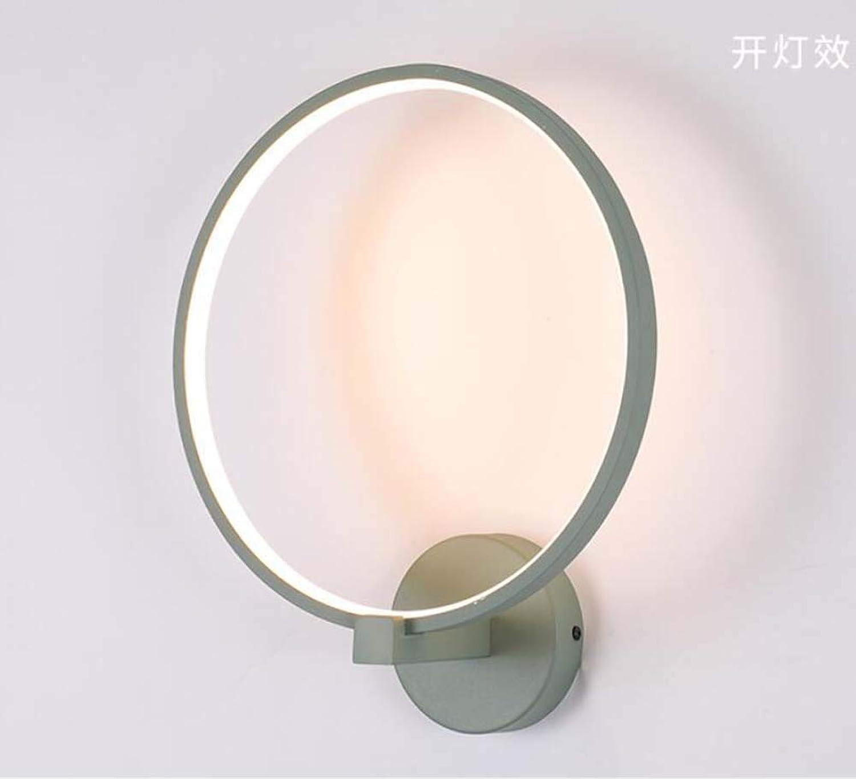 LED-Wandlampe Rund Macaron Farb Halterung Licht Weiche Licht Augenschutz Wand Lampe Iron Deco Beleuchtung,Grün