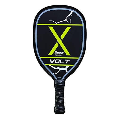 Franklin Sports Pickleball Paddle - Wooden Pickleball Racket - Volt - Yellow - USA Pickleball (USAPA) Approved