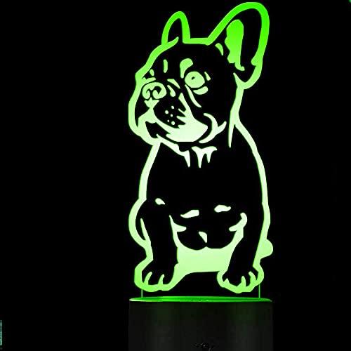 3D Luce Notturna Bulldog francese led Lampada Illuminazione 7 Cambiare Colore Halloween Regalo di Compleanno Room Decor per Bambino giocattol speciale luci notturne decorazione bambini
