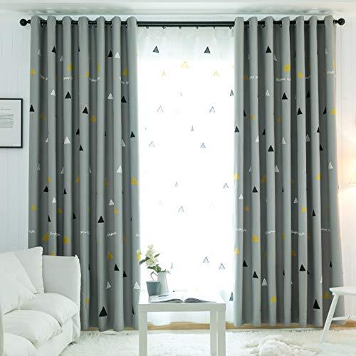 Tissu Simple Rideau De Nordiques Ombrage Moderne Isolation Rideau, Fini L'Ombrage De Tissu, Portes - Fenêtres, Salon Chambre De Fenêtres.200 x 270 CM (W x H) x 2,À