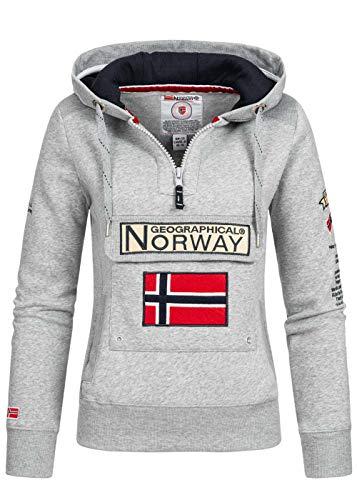 Geographical Norway - Sudadera para mujer gris M
