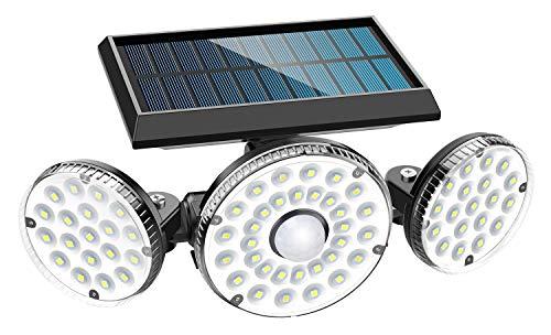 Solarlampen für Außen, MPJ 70 LED Solarleuchten Aussen mit Bewegungsmelder, IP65 Wasserdichte, 120°Beleuchtungswinkel, 360° Drehbar Solar Wandleuchte für Garten Balkon Garage Zaun