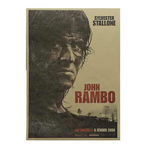 ALTcompluser Retro Motiv Film Poster Promi Wanddekoration Vintage Wandbild Kleinformat Plakat für Wandgestaltung(First Blood)