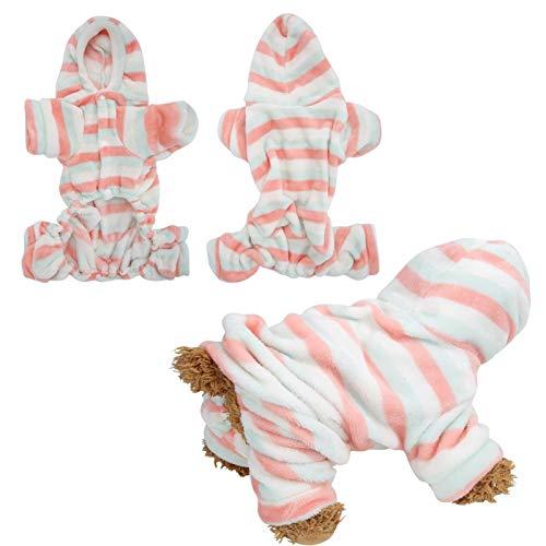 DAUERHAFT Haustier Winterkleidung, Welpen warme Pyjama Kleidung, für Weihnachten Tragen für kleine bis große Hunde und Katzen(XS)