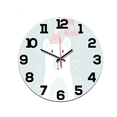 LUOYLYM Digitale Wanduhr Wanduhr Acryl Uhr Stumm Startseite Kreative Wand Stereo Handwerk Uhr Rahmenloser Wecker Ctt-204 28CM