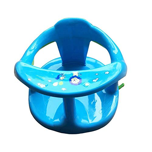 Rubyu-123 Babydesign - Asiento de baño para bebé con respaldo, 4 ventosas, asiento de baño estable, giratorio 360°, asiento ergonómico para la bañera