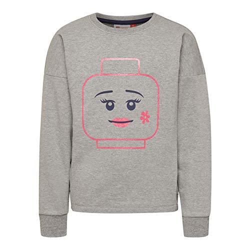 Lego Wear Mädchen Lego Girl LWSIMONE Sweatshirt, per Pack Grau (Grey Melange 921), 116 (Herstellergröße: 116)