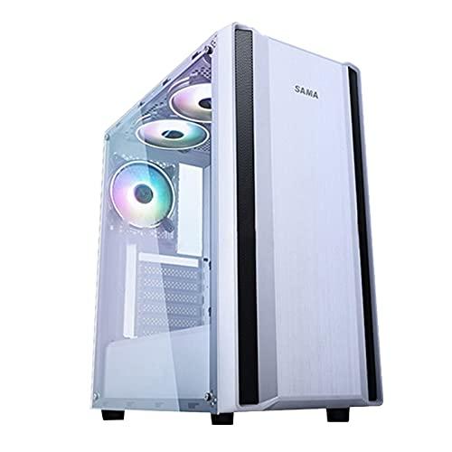 WSNBB Caja para Juegos ATX Mid Tower para PC, Gabinete Principal Acrílico Totalmente Permeable Refrigerado por Agua, Soporte 280 Refrigerado por Agua