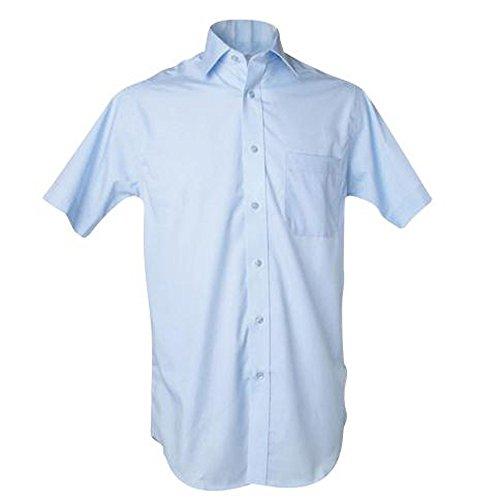 Kustom Kit Prime chemise sociétés non fer à manches courtes léger Bleu 17.5