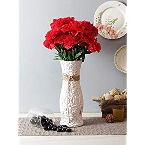 FOUR WALLS Fourwalls 45 cm Tall Artificial Carnation Bunch with 18 Flower Heads