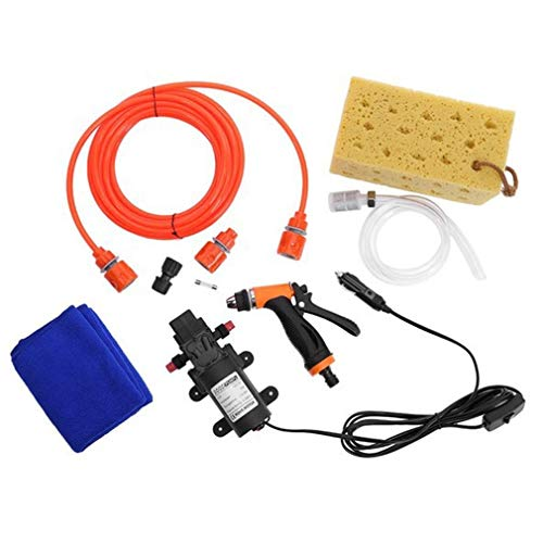 12V Hogedruk Waterpistool Waterpomp Elektrische auto Auto Wasgereedschapset Multicolor