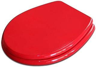 Abattant de WC avec Panneau MDF antibactérien et Silencieux Ultra résistant en Forme de O pour siège de Toilette Adulte E-...
