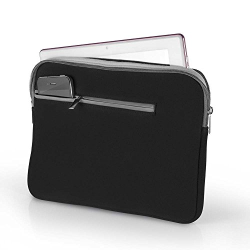 Case Pocket Preto E Cinza Para Notebook Até 14 - Atrio, BO207