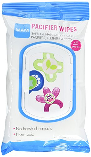 "MAM Pacifier Wipes, 4"" x 6"" Pacifier Cleaning Wipes, 0+ Months, 40-Count"