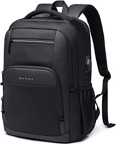 BANGE Laptop Backpack,Travel Backpack for Men Women Fits 15.6 Inch Laptop (Black)