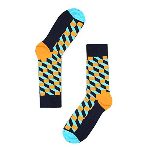 TININNA 1Paire Chaussettes Haute de Treillis Classique Homme Bas de Contention Long Socks Basse Socquettes Elasticité Sport Originales Semelle #3