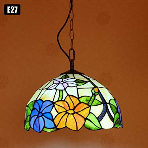 ACHNC Tiffany Pendelleuchte Vintage Küchelampe Retro Esstisclampe 30Cm Buntglas Tiffany Lampen Hängelampe Esszimmer Esstisc Loft Cafe Bar Deko Flur Küchen Lampe,E27