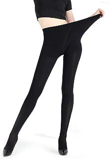 JEPOZRA, leggings para mujer, cálido Otoño e invierno terciopelo elástico Leggings pantalones, grueso forro polar forrado térmico elástico mallas para niña mujer (Negro, M)