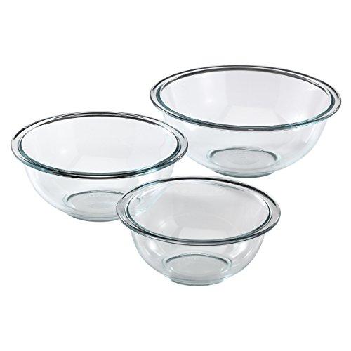 Pyrex Glass Mixing Bowl Set (3-Piece) (Renewed)
