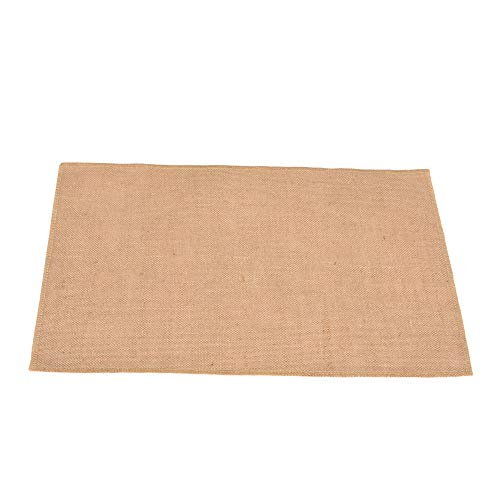 Jucos Products Burlap Placemats 100% Jute Rustic Tablemats Super Value Hand Made Placemats for Parties, Weddings, BBQ's, Holidays&Everyday Use Set of 4