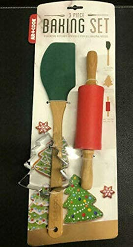 Art Tucson Mall Cook 3 Piece Christmas Holiday S Baking Set Cutter Cookie Award
