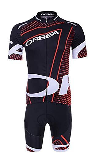 Logas Herren Fahrradbekleidung Pro Jersey + Radhose mit 3D-Gel gepolstert, Herren, 10, 3XL