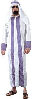 Adults Mens Arab Sheik Costume for Aladdin Prince Arabian Cosplay XL Chest Size 48