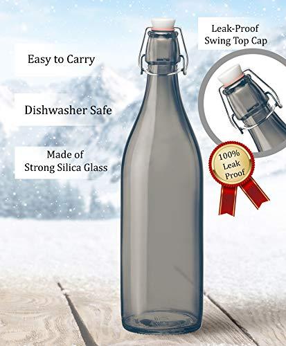 Treo by Milton Giara Bottle Silica Glass 1000 ml, (1 PC), Grey