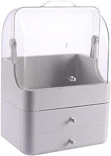 صندوق تخزين أدوات المعيشة صندوق تخزين المكياج خالٍ من الغبار أدوات التجميل المحمولة خزانة تخزين مستحضرات التجميل عرض خزانة...